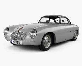 3D model of Mercedes-Benz SL-Class (W194) 1952