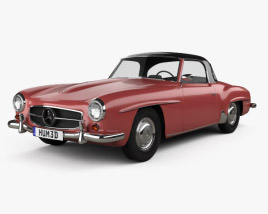 Mercedes-Benz SL-class (R121) hardtop 1955 3D model