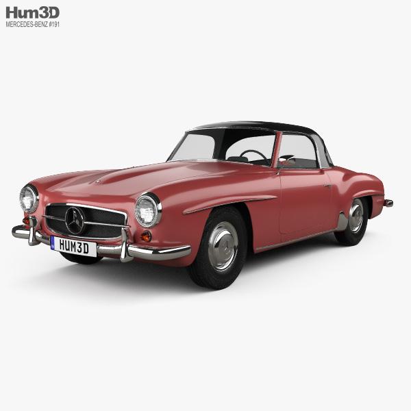 Mercedes-Benz SL-class (R121) hardtop 1955 3D model