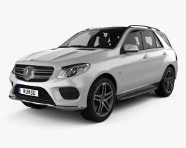 3D model of Mercedes-Benz GLE-Class (W166) AMG Line 2014