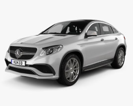 3D model of Mercedes-Benz GLE-Class (C292) Coupe AMG 2014