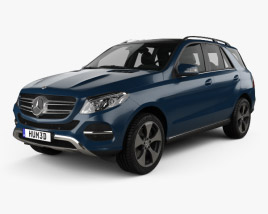 3D model of Mercedes-Benz GLE-Class (W166) 2014