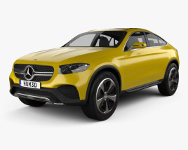3D model of Mercedes-Benz GLC Coupe Concept 2014