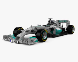 3D model of Mercedes-Benz W05 2014