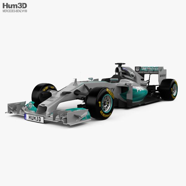 Mercedes-Benz W05 2014 3D model