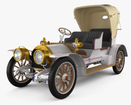 3D model of Mercedes-Benz Simplex 28-32 Phaeton 1905