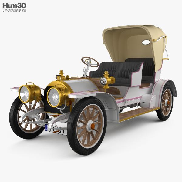 3D model of Mercedes-Benz Simplex 28-32 Phaeton 1905