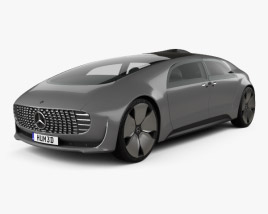 3D model of Mercedes-Benz F 015 2015