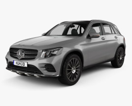 3D model of Mercedes-Benz GLC-Class (X205) AMG Line 2015