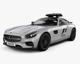 3D model of Mercedes-Benz AMG GT S F1 Safety Car 2015