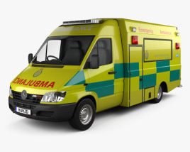 3D model of Mercedes-Benz Sprinter (W903) Ambulance 2000