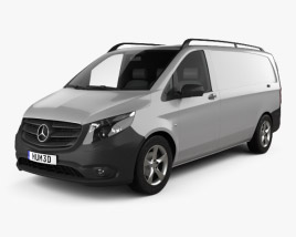 3D model of Mercedes-Benz Vito (W447) Panel Van L2 2014