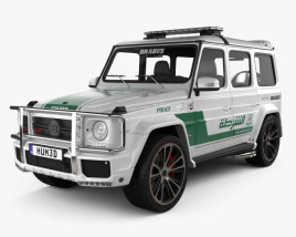 3D model of Mercedes-Benz G-class Brabus G700 Widestar Police Dubai 2013