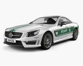 3D model of Mercedes-Benz SL-class (R321) AMG Police Dubai 2013