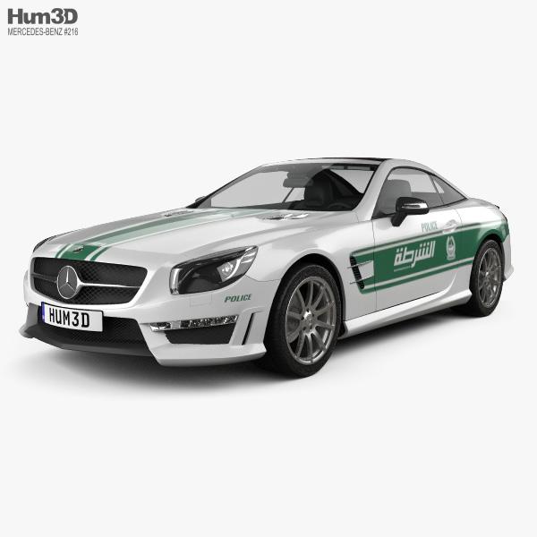 Mercedes-Benz SL-class (R321) AMG Police Dubai 2013 3D model
