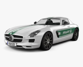 3D model of Mercedes-Benz SLS-class (C197) AMG Police Dubai 2013