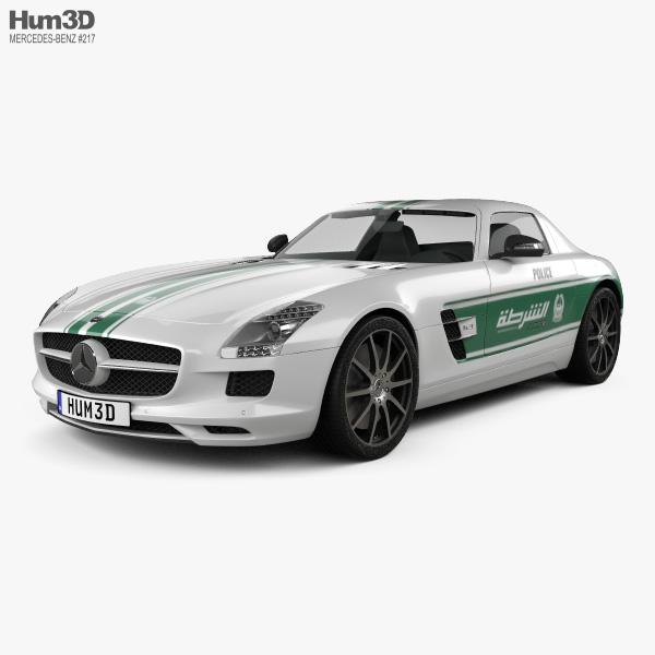 Mercedes-Benz SLS-class (C197) AMG Police Dubai 2013 3D model