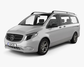 3D model of Mercedes-Benz Vito Tourer Select L2 (W447) 2014