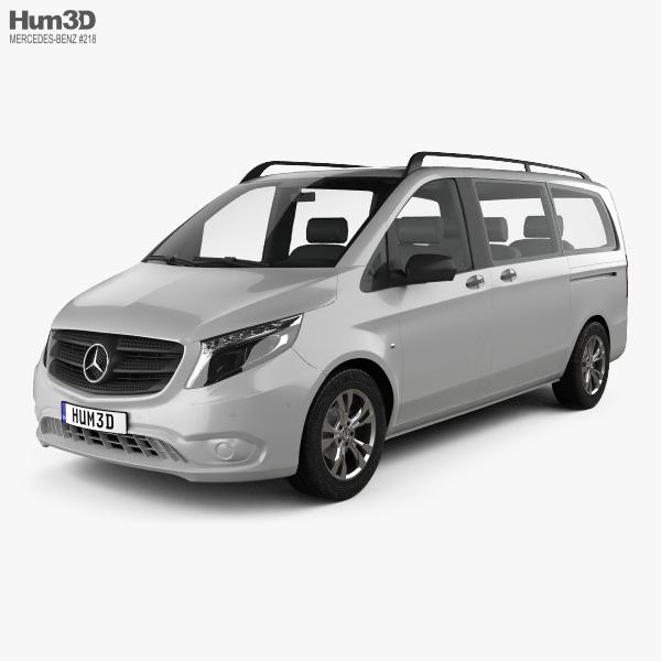 3D model of Mercedes-Benz Vito Tourer Select L2 (W447) 2014
