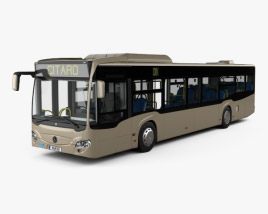 3D model of Mercedes-Benz Citaro (O530) Bus with HQ interior 2011