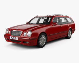 3D model of Mercedes-Benz E-class wagon 1999