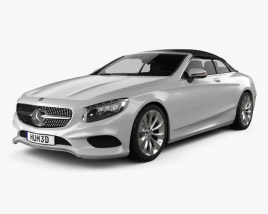 3D model of Mercedes-Benz S-class cabriolet 2014