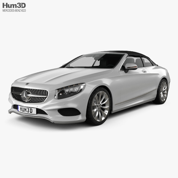 Mercedes-Benz S-class cabriolet 2014 3D model