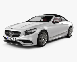 3D model of Mercedes-Benz S-class AMG cabriolet 2014