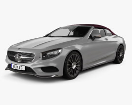 3D model of Mercedes-Benz S-class AMG Line cabriolet 2014