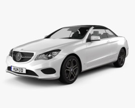 3D model of Mercedes-Benz E-Class convertible 2014