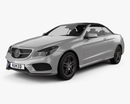 3D model of Mercedes-Benz E-Class Convertible AMG Sports Package 2014