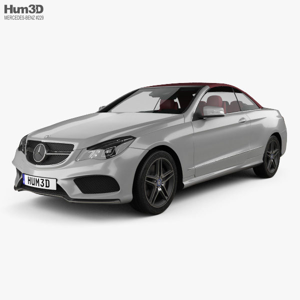 Mercedes-Benz E-class convertible AMG Sports Package with HQ interior 2014 3D model