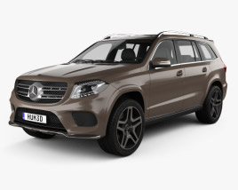 3D model of Mercedes-Benz GLS-Class AMG Line 2015