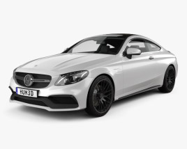 3D model of Mercedes-Benz C-Class AMG Coupe 2015