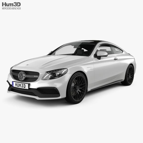 Mercedes-Benz C-class AMG Coupe 2015 3D model