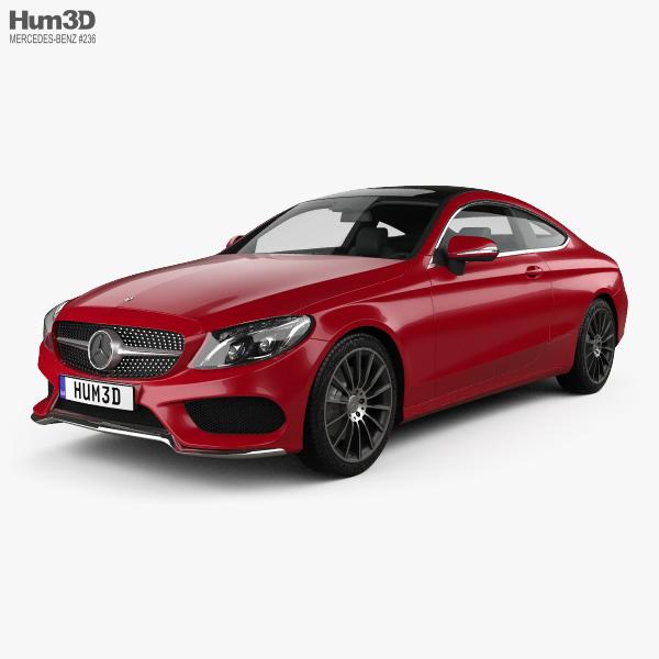 Mercedes-Benz C-class AMG Line Coupe 2015 3D model
