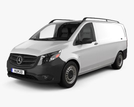 3D model of Mercedes-Benz Metris Panel Van with HQ interior 2014