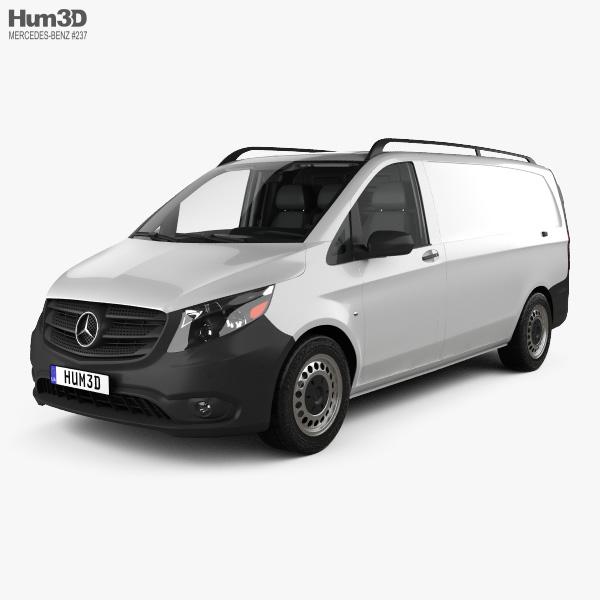 3D model of Mercedes-Benz Metris Panel Van with HQ interior 2014