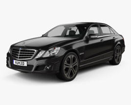 3D model of Mercedes-Benz E-Class Brabus 2010