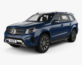 3D model of Mercedes-Benz GLS-Class 2015