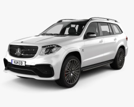 3D model of Mercedes-Benz GLS-Class AMG 2015