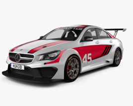 3D model of Mercedes-Benz CLA-Class (C117) AMG Racing 2014