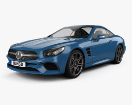 3D model of Mercedes-Benz SL-Class (R231) 2015