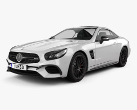 3D model of Mercedes-Benz SL-Class (R231) SL 63 AMG 2015