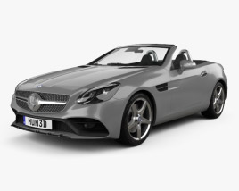 3D model of Mercedes-Benz SLC-Class 2017