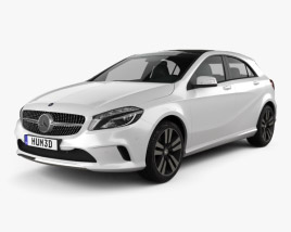 3D model of Mercedes-Benz A-Class Urban Line 2015