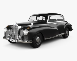 3D model of Mercedes-Benz 300 (W186) Limousine 1951