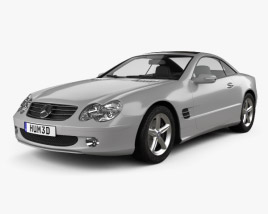3D model of Mercedes-Benz SL-Class (R230) 2001