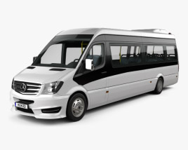 3D model of Mercedes-Benz Sprinter CUBY City Line Long Bus 2016
