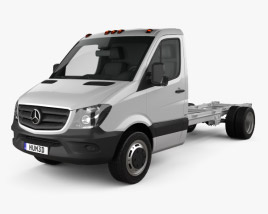 3D model of Mercedes-Benz Sprinter Single Cab Chassis LWB 2013